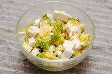 Romanesco And Romanian Cheese Salad Royalty Free Stock Photos
