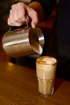 Free Pours Coffee Latte Stock Images - 29908884