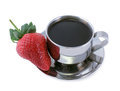 Free Coffee And Strawberry Royalty Free Stock Image - 29917036