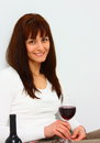Free Woman Relaxing With Glass Of Wine Stock Photos - 29919903