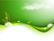 Free Green Floral Vector Background Royalty Free Stock Image - 29910906