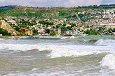 Stormy Sea Near The Town Of Balchik. Stock Image
