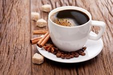 Free Cup Of Coffee With Brown Sugar. Royalty Free Stock Image - 29914496