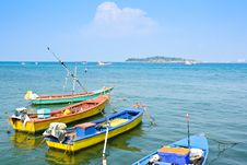 Small Colorful Fishing Boat Stock Images