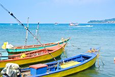 Small Colorful Fishing Boat Royalty Free Stock Photos