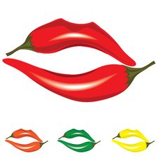 Free Woman Lips As Pepper Royalty Free Stock Image - 29918766