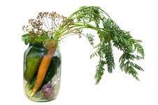 Free Fresh Vegetables In A Glass Jar. Royalty Free Stock Image - 29919306