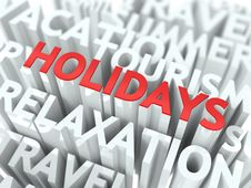 Holidays Concept. Stock Image