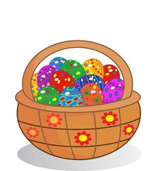 Free Easter Egg Basket Stock Images - 29919764