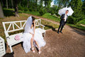 Free Bride And Groom In Park Stock Images - 29927134