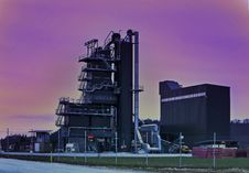 Free A Factory On A Colorful Evening. Royalty Free Stock Photography - 29922157