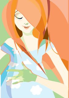 Red Hair Girl Royalty Free Stock Photo