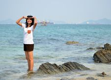Free Beautiful Young Woman On Beach Summer Holiday Stock Image - 29926541