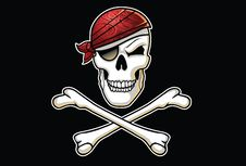 Free Jolly Roger Illustration With Bandana Stock Images - 29926844