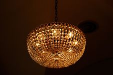 Ancient  Chandelier Over Black Background Royalty Free Stock Photography