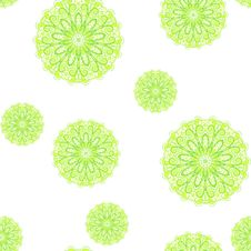 Seamless Pattern With Green Circles Stock Images