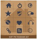 Free Web Software Pictogram Symbols Set Royalty Free Stock Photo - 29939635