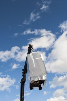 Hydraulic Cranes Royalty Free Stock Photos
