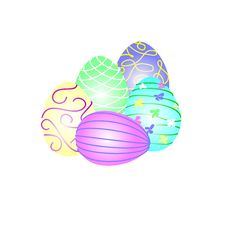 Free Colorful Easter Eggs Stock Images - 29936004