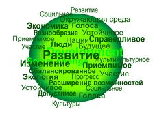 Free Sustainable Development Terms Sphere &x28;russian&x29; Royalty Free Stock Photo - 29936115