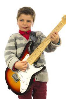 Free Guitar Boy Stock Image - 29938751