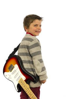 Guitar Boy Royalty Free Stock Image