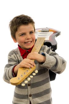 Free Guitar Boy Stock Photos - 29938803