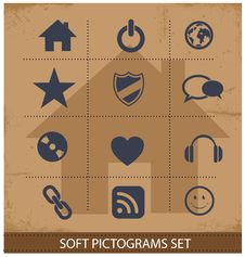 Free Web Software Pictogram Symbols Set Royalty Free Stock Photo - 29939635