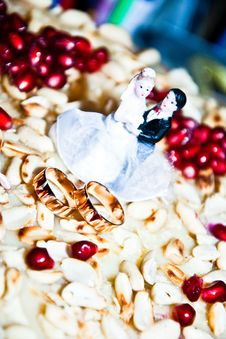 Free Figurine On A Wedding Cake Royalty Free Stock Photo - 29942165