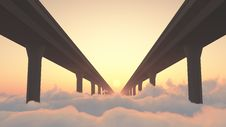 Free Road To Heaven Highway Above Clouds Royalty Free Stock Photos - 29942528