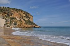 Free Coast Of Algarve With Small Beach, Burgau, Portuga Stock Photo - 29947720