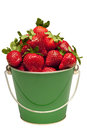 Free Strawberries In Pail Close Up Isolated Royalty Free Stock Photos - 29952038
