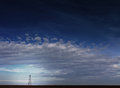 Free Abandoned Oil Rig Profiled On Cloudy Day Sky Stock Images - 29957324