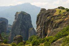 Meteora Mountains At Kalambaka Stock Image