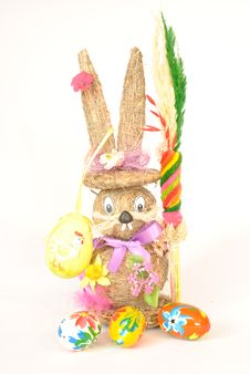Free Easter Bunny On A White Background Royalty Free Stock Photos - 29956588
