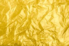 Free Texture And Background Of Wrinkled Golden Paper Royalty Free Stock Photo - 29958785