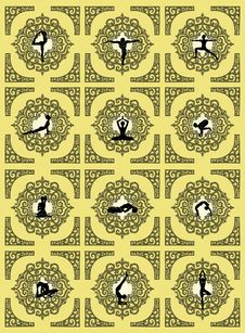 Free Yoga Pattern Royalty Free Stock Images - 29960929