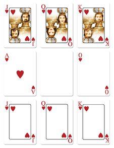 Heart Playing Cards Stock Photos