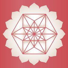 Free Star Tetrahedron Lotus Print Royalty Free Stock Image - 29965696