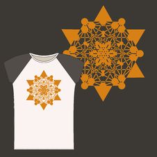 T-shirt  With Star Tetrahedron Stock Photo