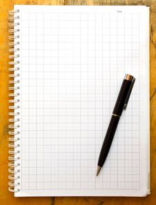 Free Note Book And Black Pen Stock Photo - 29967930