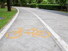 Bicycle Way Sign Royalty Free Stock Photos
