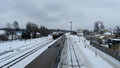 Free Panorama To Railway Station And Rails In Winter Royalty Free Stock Photo - 29979315