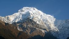 Annapurna Himalaya Stock Photo