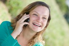 Free Girl Talking On The Phone Stock Photos - 29971323