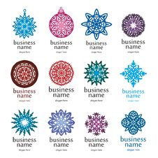 Free Christmas Collection Of Logos Stock Images - 29974134