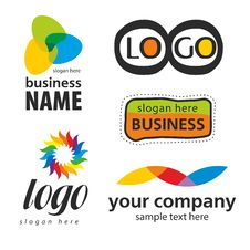 Free Collection Of Abstract Colored Logos Stock Photography - 29974142