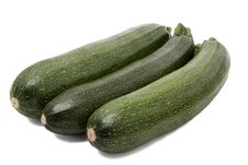 Free Zucchini On White Background Royalty Free Stock Image - 29974556