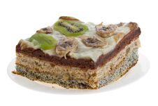 Cake With Kiwi And Banana Stock Photography