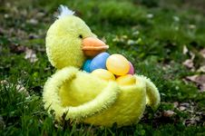 Free Easter Duck Basket Stock Photography - 29976372